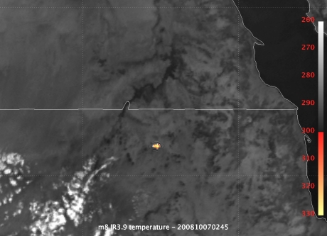 Fireball over Northern Sudan