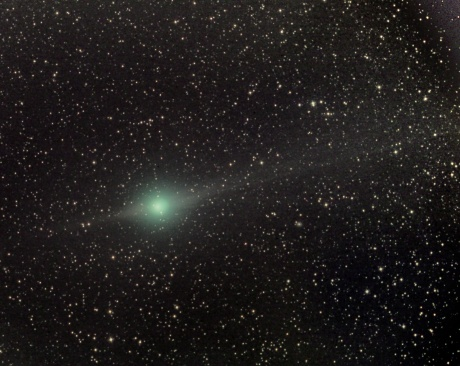 Comet Lulin on February 2nd, glowing at magnitude 6.5 with tail and antitail. Click image for larger view. Paolo Candy