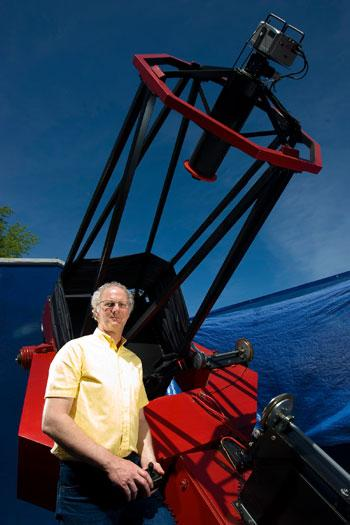"Bob Holmes and his 32"" telescope near Charleston"