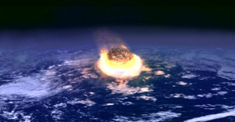 Illustration of an asteroid that could have wiped out the dinosaurs.
