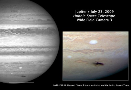 Hubble Photo of Impact on Jupiter