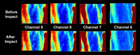 Uncalibrated Diviner thermal maps of the LCROSS impact region Credit: NASA / GSFC / UCLA