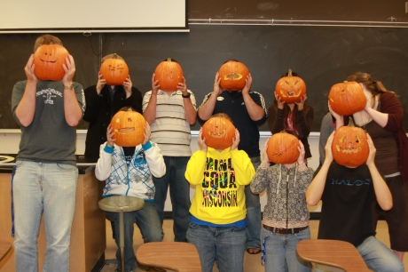 After the successful transplants....PUMPKIN-HEADS